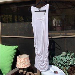 Venus White Ruched Tank Dress NWOT
